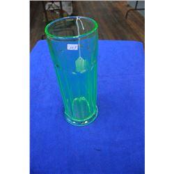 Green 'Vaseline' Glass Vase