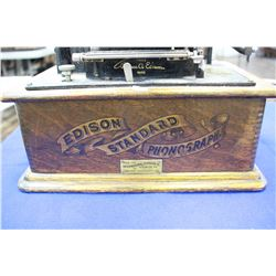 """""""Edison"""" Standard Phonograph (table model), Cylinder Type, Outside Horn **Working**"""