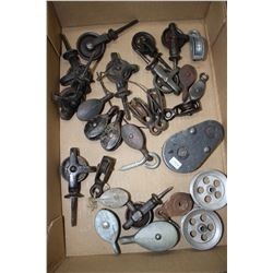 Collection of Small Single Pulleys