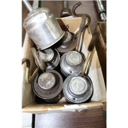 Gas Lamp Fuel Cans (5) and a Funnel