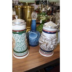 "Two ""Avon"" Steins  and 1 ""Spode"" Decanter"