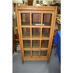 Oak China Cabinet with Glass Front