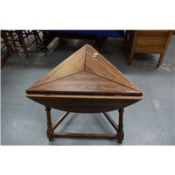 Table (Makes into a Round Table) - 3 Sided, 3 Legs & 3 Leaves