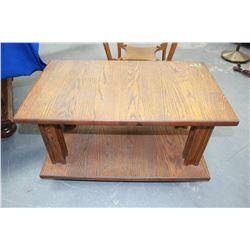 Oak Rectangular, 2 Tier End Table