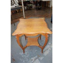 Oak Decorator Table - 2 Tier