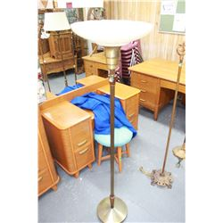 Tri-Light Floor Lamp with Glass Shade