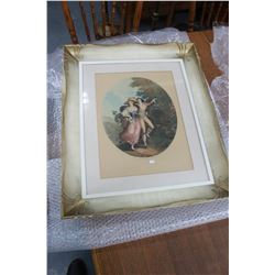 Ornately Framed Picture of a Paris Couple