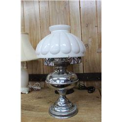 Rayo Lamp with Metal Base and Milk Glass Shade