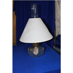 Aladdin Lincoln Drape Hanging Lamp (no hanger) , Clear Glass with Fabric Shade