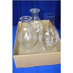 Clear Glass Lamp Chimneys (3)