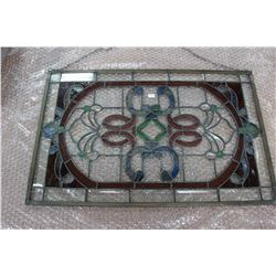 Rectangular Stained Glass (Reds & Greens) - can hang