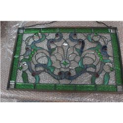 Rectangular Stained Glass (Mostly Green) - can hang