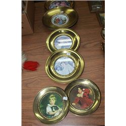 Round Metal Framed Pictures (6) and Small Framed Pictures (5)