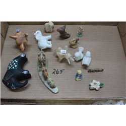 Collection of Six Elephants and Small Animals
