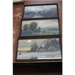 Set of 3 Scenic Pictures (Very Old)