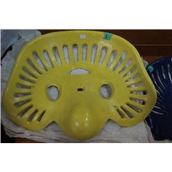 Cast Iron Implement Seat (Yellow)