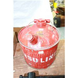One Gallon Red Fuel Can (galvanized)