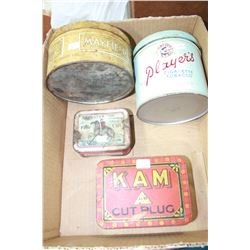Four Collector Tins - All Tobacco