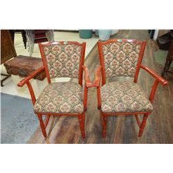 Upholstered/Painted Arm Chairs (2)