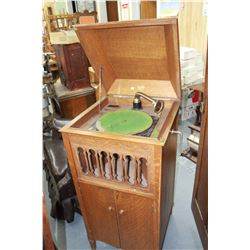 """""""Pathe"""" Frere's Phonograph, New York; Model 125 with Oak Case"""