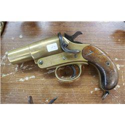 Brass Flare Gun - Webley & Scott Ltd., London-Birmingham
