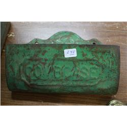 """Wall Mount """"Combcase""""; Embossed; Green in Color"""