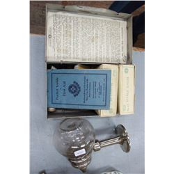 First Aid Kit (1943) and an Old Glass Ball Soap Dispenser