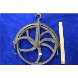 """Cast Iron Well Pulley - 12"""""""