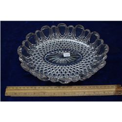 Oval Glass Bowl with Hint of Purple coloring