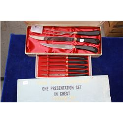 Carving Set (3 pieces) with 6 Steak Knives - Made in Canada