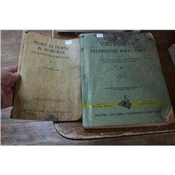 Two B.C. Phone Directories - Victoria 1955 & Port Alberni 1948