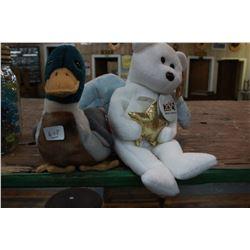 Two TY Babies; Duck; Angel Bear
