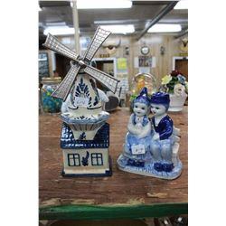 Blue Delft Ornaments (2)