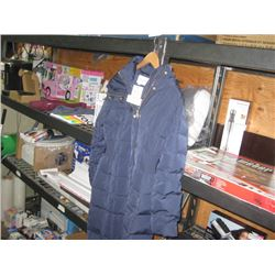 COLE HAAN 3/4 SZ SMALL NAVY JACKET 356SD700