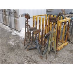 ASSORTED PIPE ROLLERS AND STANDS