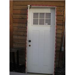 USED 32 INCH EXTERIOR DOOR
