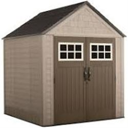 RUBBERMAID BIG MAX 7 X 10 1/2 STORAGE SHED AS-IS