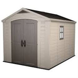 KETER FACTOR 8 X 11 STORAGE SHED AS-IS