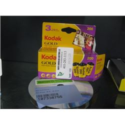 KODAK GOLD FILM AND CDS