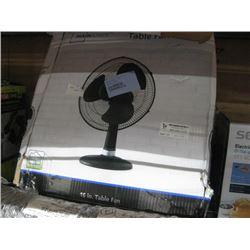 2PC MAINSTAYS OSCILATTING TABLE FAN