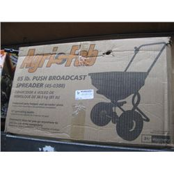 AGRI FAB 85 LB PUSH BROADCAST SPREADER