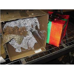 LED PVC WHITE DECORATIVE LIGHT UP FIXTURES