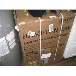 HAMPTON BAY EDSON 18 INCH 3 DRAWER BASE CABINET DRAWER SET