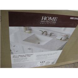 HOME DECORATORS 49 INCH STONE EFFECT VANITY TOP SCRATCHED