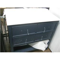 HOME DECOR BROOKBANK SQUARE VANITY COMBO 36 INCH BLUE