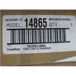 IMPERAL CLOSET KIT STANDARD WHITE CLOSETMAID 14685