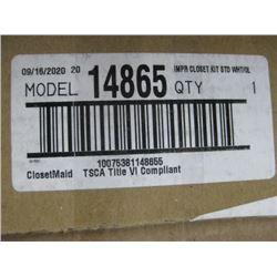 IMPERAL CLOSET KIT STANDARD WHITE CLOSETMAID 14686