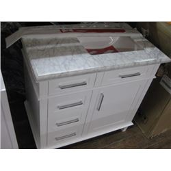 36 INCH WHITE VANITY WITH TOP