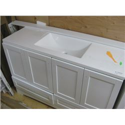 48 1/2 INCH WHITE VANITY WITH COUNTERTOP