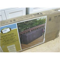 HAMPTON BAY 130 GALLON DECK BOX 48 IN X 28 IN X 2.5 IN